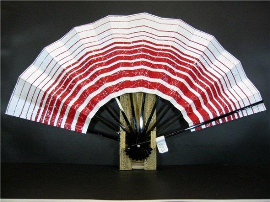 A372 舞扇子 赤横線 シルバー引き