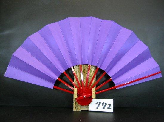 A772 舞扇子 赤骨 紫地