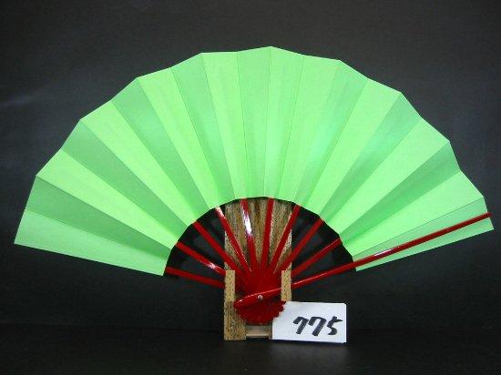 A775 舞扇子 赤骨 緑地