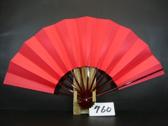 A760 舞扇子 タメ骨 赤地