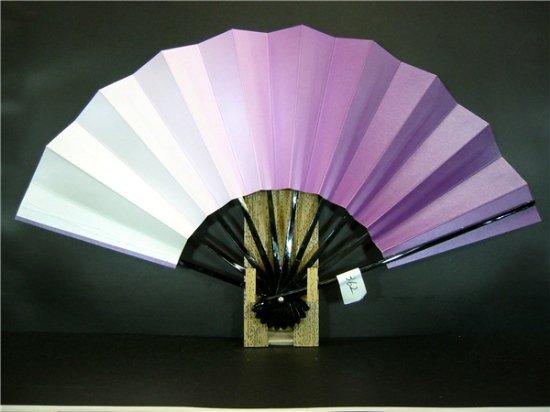 A362 舞扇子 紫横ぼかしシルバー引き