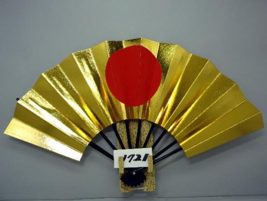 A1721 舞扇子 両金箔 日の丸