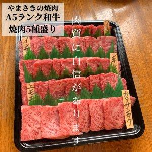 やまさきの焼肉 A5和牛5種盛 500g