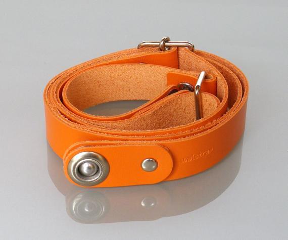カラーSkinny(オレンジ)-- iPhone・スマホ・携帯電話ウェアラブルホルダー waistrap ベルトパーツ(クローム…