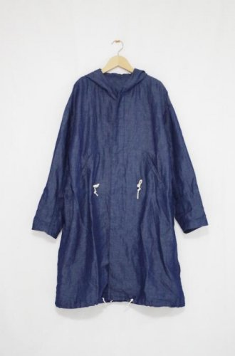 Cen_ - Hood coat (Washed linen denim)