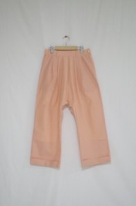Cen_ - Tuck Wide Pants(shiny pink)