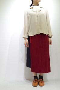 ohta - red wrap skirt -woman