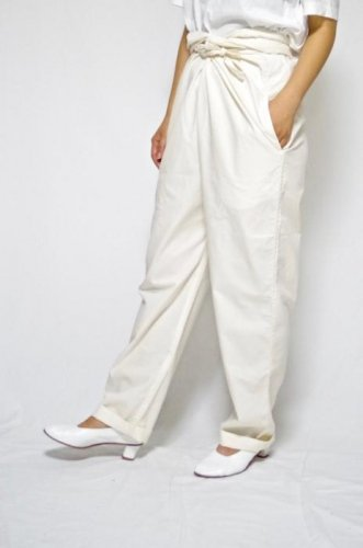 COSMIC WONDER-ORGANIC COTTON WRAP PANTS-unisex(Natural)