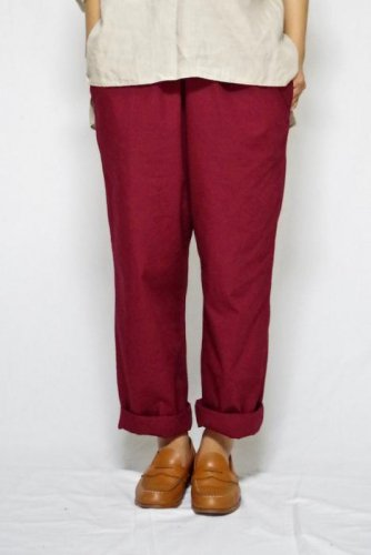 COSMIC WONDER-ORGANIC COTTON WRAP PANTS-unisex(Natural Red)