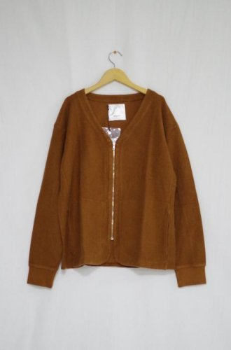mfpen - Zip Jersey Sweat(Brown)