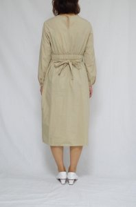 COSMIC WONDER-ORGANIC COTTON WRAP DRESS(Light Beige)