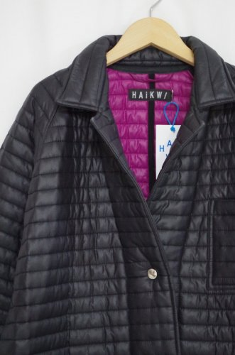 HAiK-Quilt warehouse coat(Black, Purple)