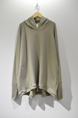O project - WIDE FIT HOODED(ASH GREY)