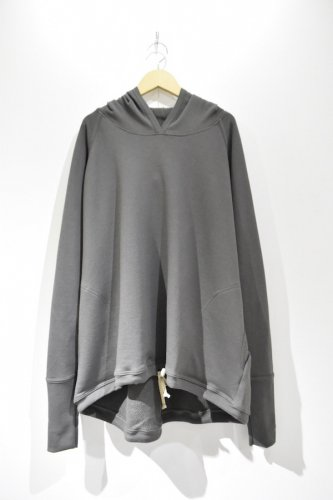 O project - WIDE FIT HOODED(MUD GREY)