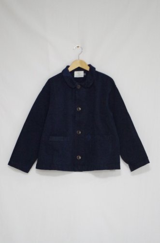 OLDERBROTHER - PATCHED CHORE COAT -unisex(BLACK INDIGO)