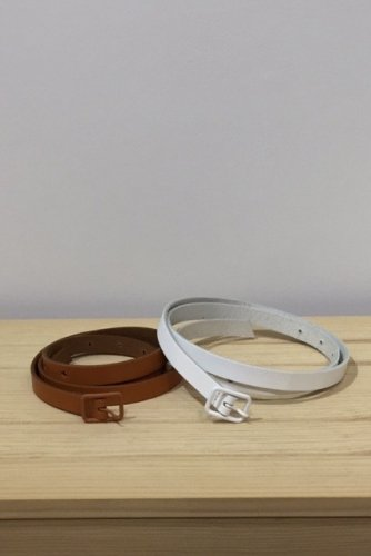 StitchandSew - Cow leather Belt (Brown & White)