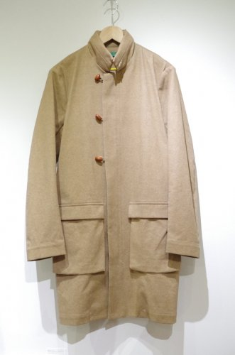 ohta - Beige oily coat - mens