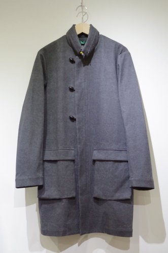 ohta - Grey oily coat - mens