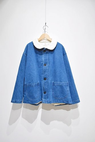 OLDERBROTHER - Sherpa Chore Coat - Indigo Denim - unisex