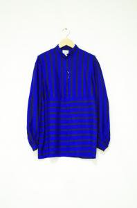 VINTAGE-Stripe Design Shirt