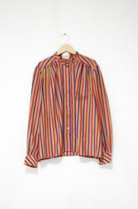 VINTAGE-Stripe Design Shirt-Beige