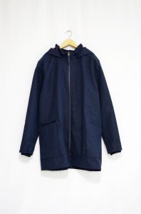 A2 by AIRBAG CRAFTWORKS-Minimalistic hooded Coat(Navy)