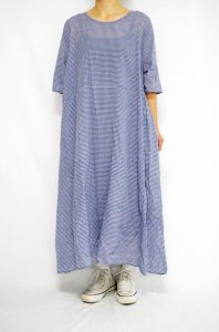 <img class='new_mark_img1' src='//img.shop-pro.jp/img/new/icons47.gif' style='border:none;display:inline;margin:0px;padding:0px;width:auto;' />bunai - Khadi-cotton Dress gingham check (Light color)