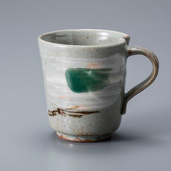 越前緑織部マグカップ