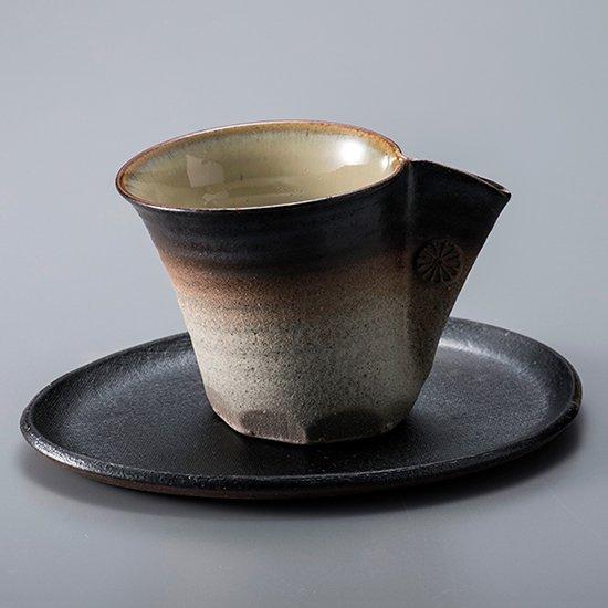 摘まみコーヒー碗皿 黒
