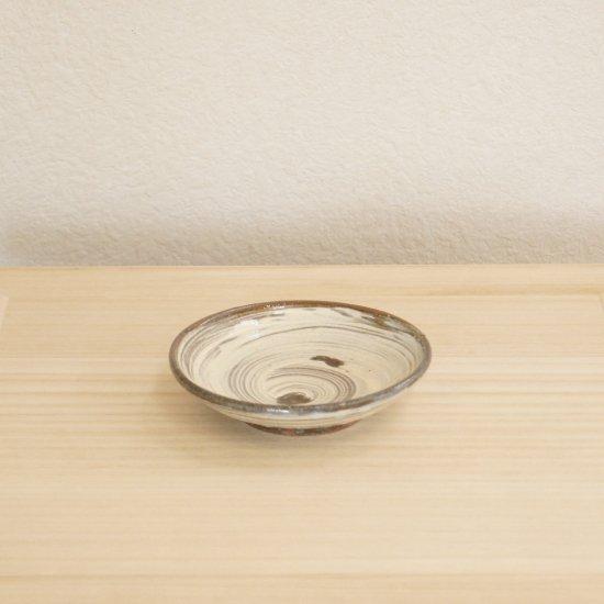 刷毛目四寸半皿