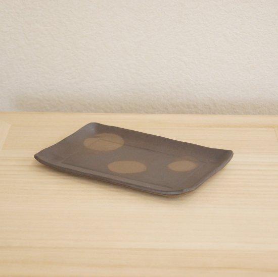 タタラ角皿 黒