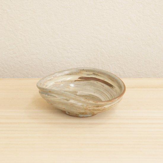 鉄砂扁形小鉢