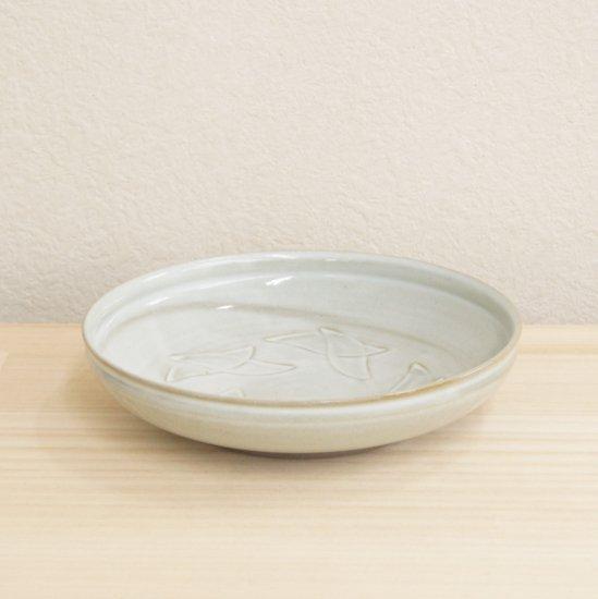 白釉線刻鉢[木箱]