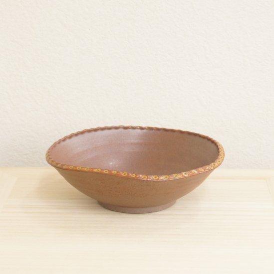灰釉変形鉢