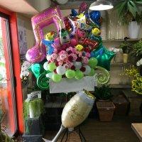バルーンを使ったスタンド花#23
