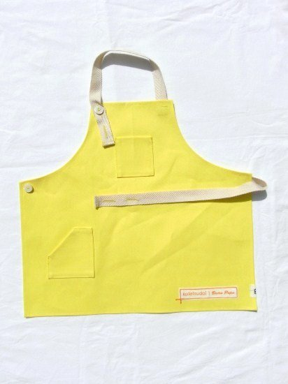 kotetsudai Apron|子供用帆布エプロン|Sサイズ(身長90〜100cm)・レモンイエロー