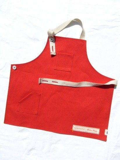 kotetsudai Apron|子供用帆布エプロン|Sサイズ(身長90〜100cm)・トマトレッド