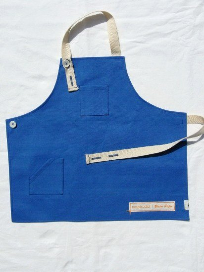 kotetsudai Apron|子供用帆布エプロン|Sサイズ(身長90〜100cm)・マリンブルー