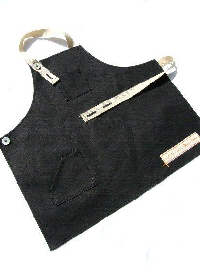 kotetsudai Apron|子供用帆布エプロン|Sサイズ(身長90〜100cm)・ペッパーブラック