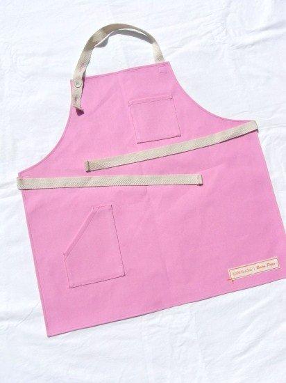 kotetsudai Apron|子供用帆布エプロン|Mサイズ(身長110〜120cm)・ピーチピンク