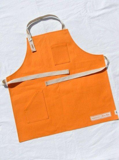 kotetsudai Apron|子供用帆布エプロン|Mサイズ(身長110〜120cm)・パンプキンオレンジ