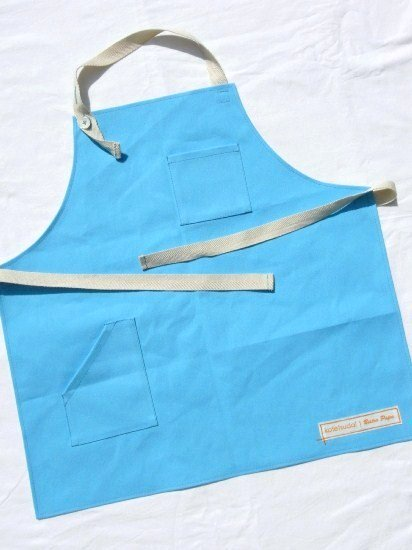 kotetsudai Apron|子供用帆布エプロン|Mサイズ(身長110〜120cm)・スカイブルー