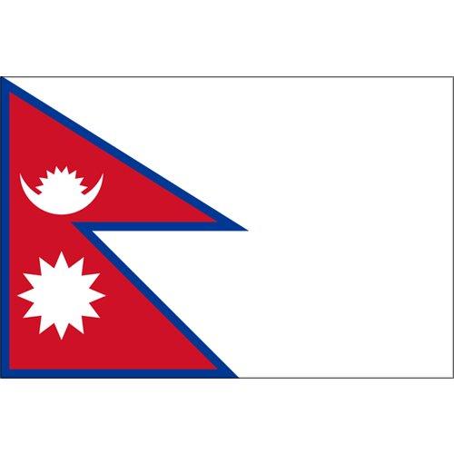 ネパール国旗 - フタバ装飾 : 七夕の飾り : 七夕