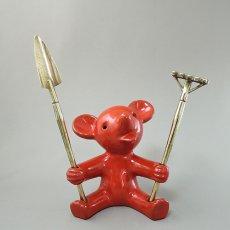 【訳あり】Walter Bosse(ウォルター・ボッセ)★クマ/bear(大)/#Red/マジョリカ焼き/120516