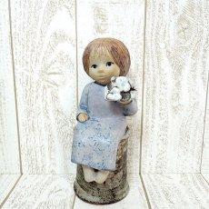 Lisa Larson(リサ・ラーソン)★SKULP TURERシリーズ/Blomsterflicka/フラワーガールa/130516