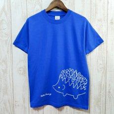 Walter Bosse.jp(ウォルター・ボッセjp)★半袖プリントTシャツ/ハリネズミ/blue