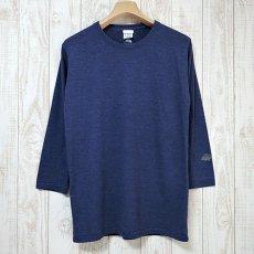 Walter Bosse.jp(ウォルター・ボッセjp)★8分袖Tシャツ/ハリネズミ袖プリント/blue