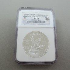 2008年 CANADA MAPLE LEAF S$5★VANCOUVER 2010 OLYMPICS / MS70★ELIZABETH �(エリザベス二世)