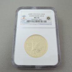2008年 CANADA MAPLE LEAF G$50★VANCOUVER 2010 OLYMPICS / MS70★ELIZABETH �(エリザベス0二世)