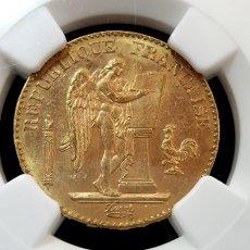 1896年 FRANCE G20F★フランス/金貨★NGC/アンティーク/モダン/MS64